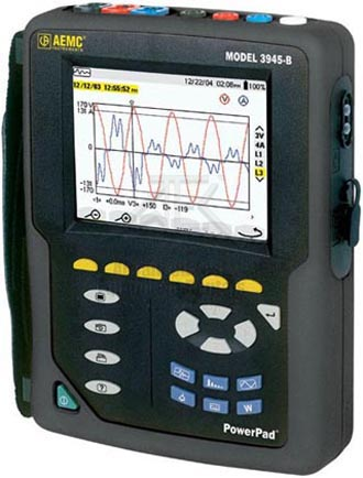 AEMC 3945 Power Quality Analyzer 4MB of memory %>