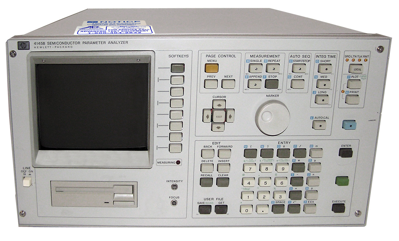 HP/Agilent 4145B Semiconductor Parameter Analyzer %>