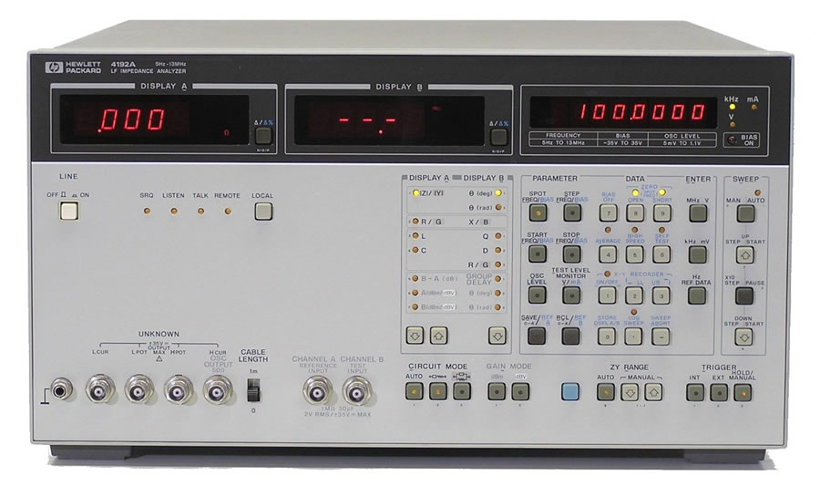 HP/Agilent 4192A RF Impedance Analyzer LF
