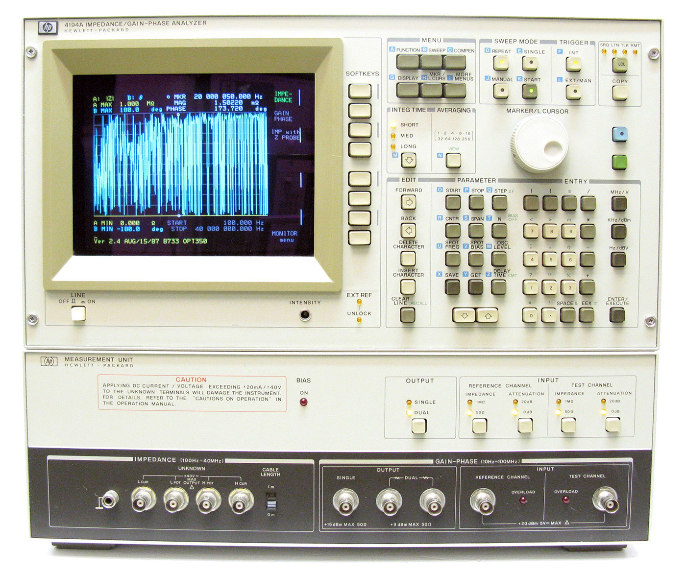 HP/Agilent 4194A Impedance/Gain-Phase Analyzer