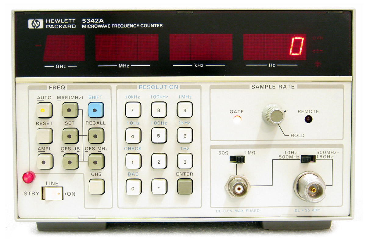 HP/Agilent 5342A CW Microwave Frequency Counter