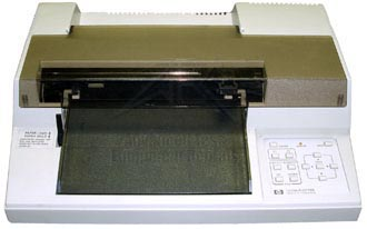 HP/Agilent 7470A Graphics Plotter, two pen,plot on HP/Agilent overhead transparency film