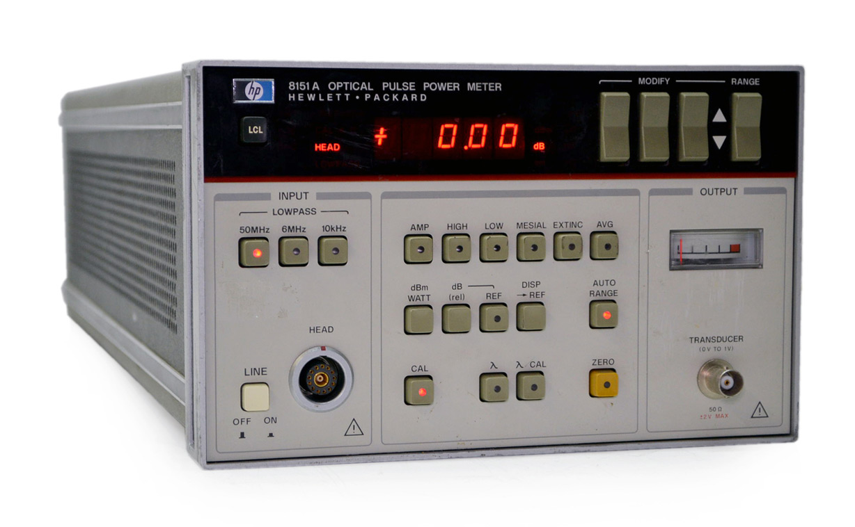 HP/Agilent 8151A Optical Pulse Power Meter 250MHz