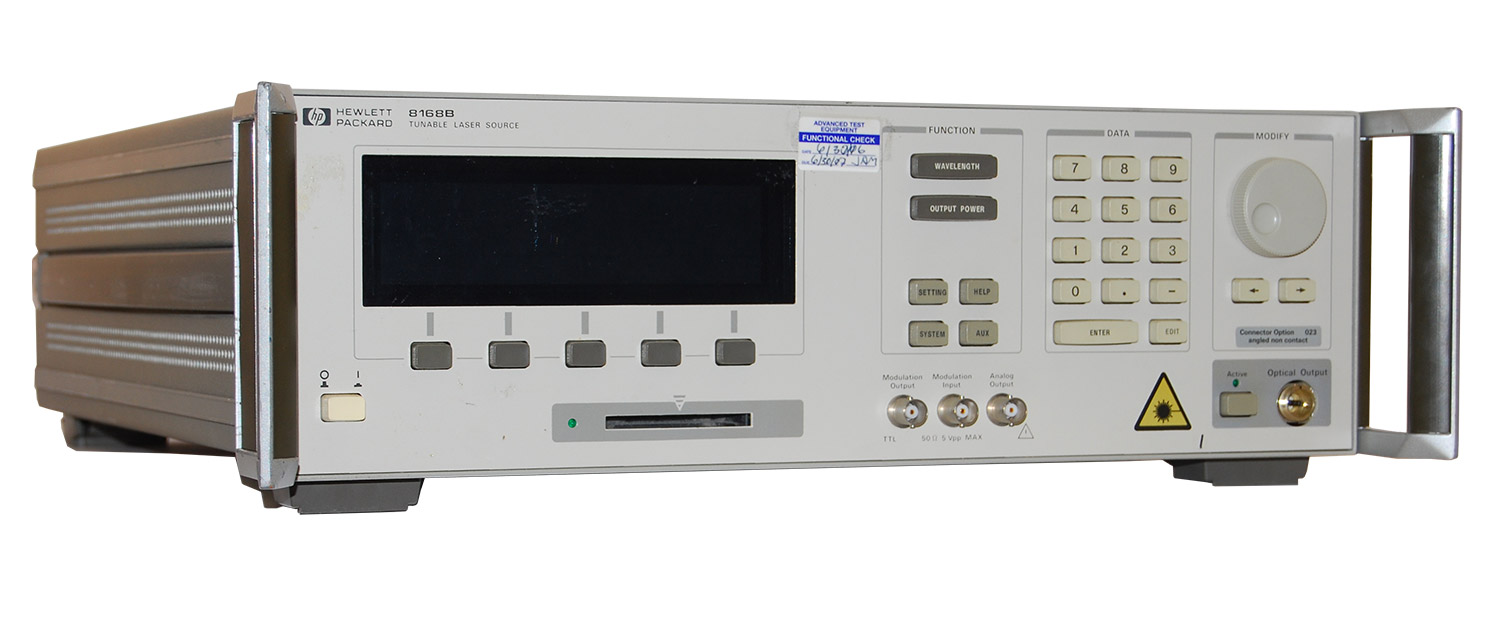 Rent HP/Agilent 8168F Lightwave Tunable Laser Source
