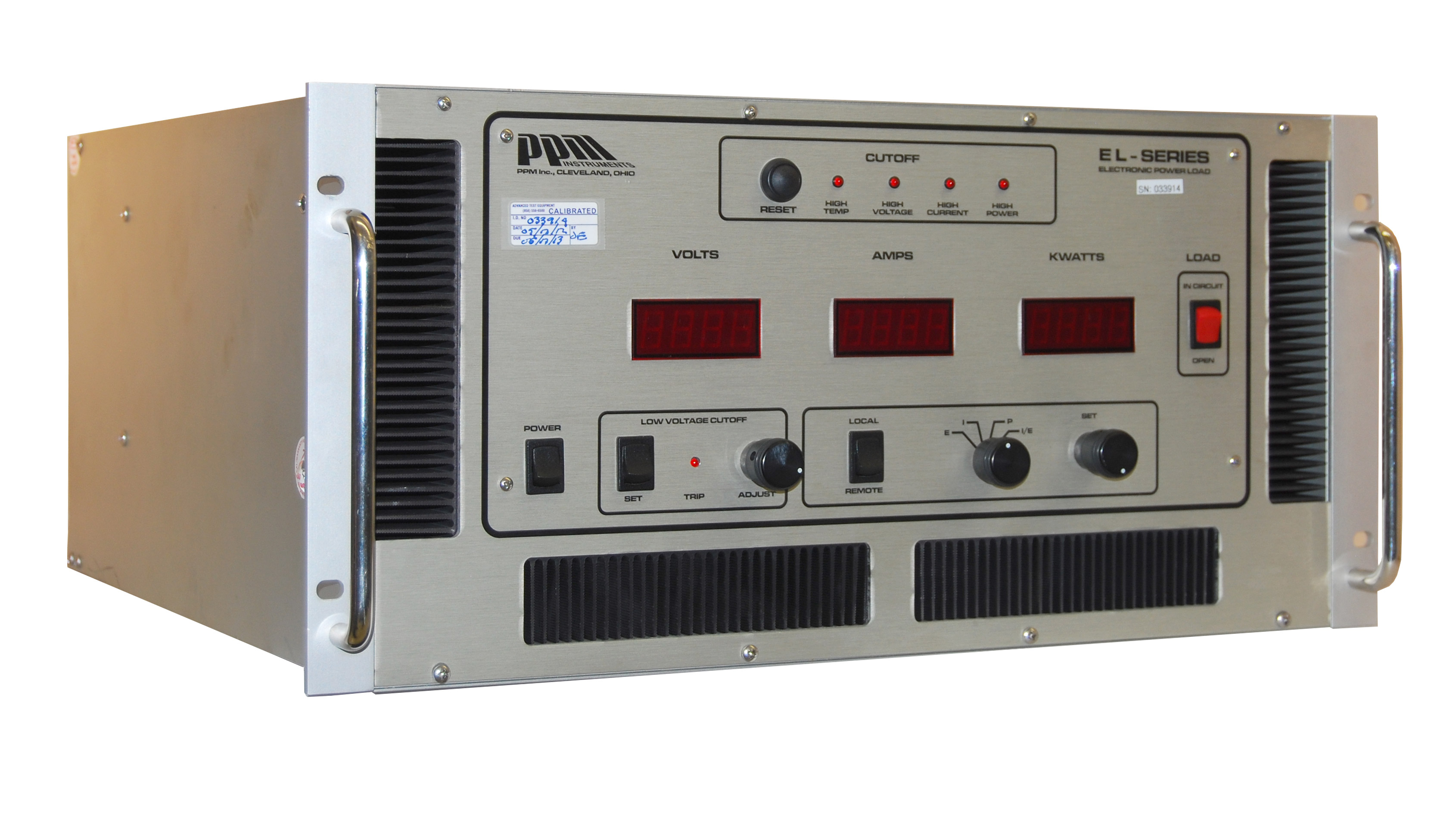 PPM Instruments EL-3000-300-60 Fuel Cell Test Electronic Power Load