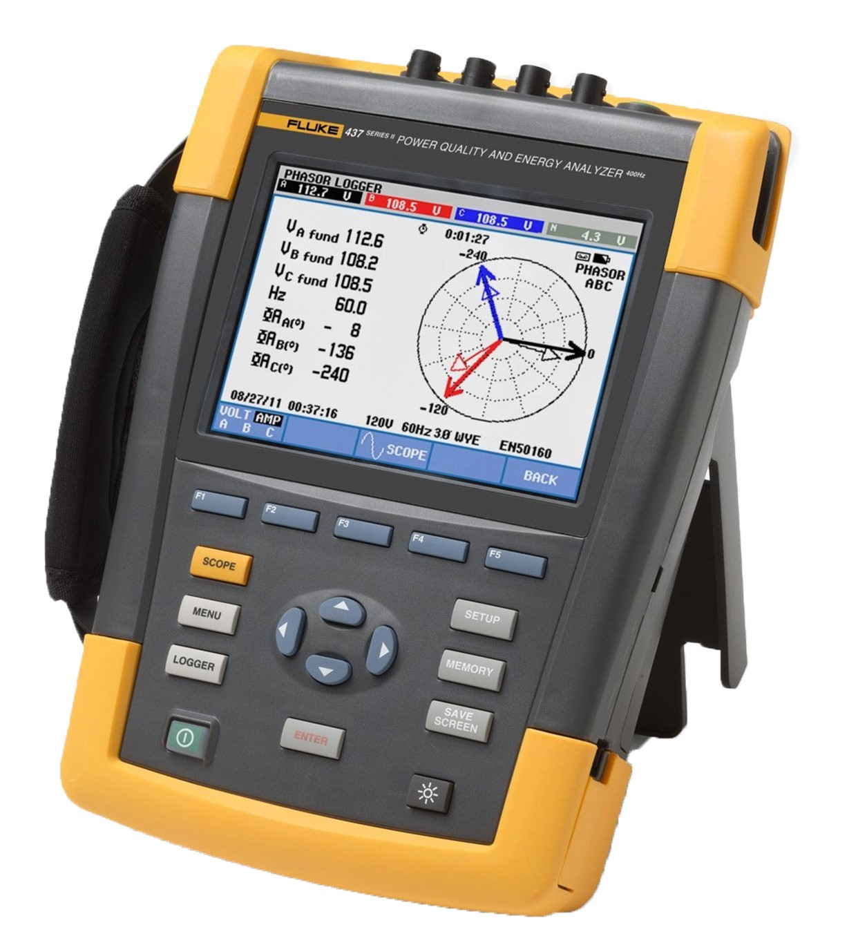 Fluke 437 Three Phase Energy & Power Quality Analyze %>