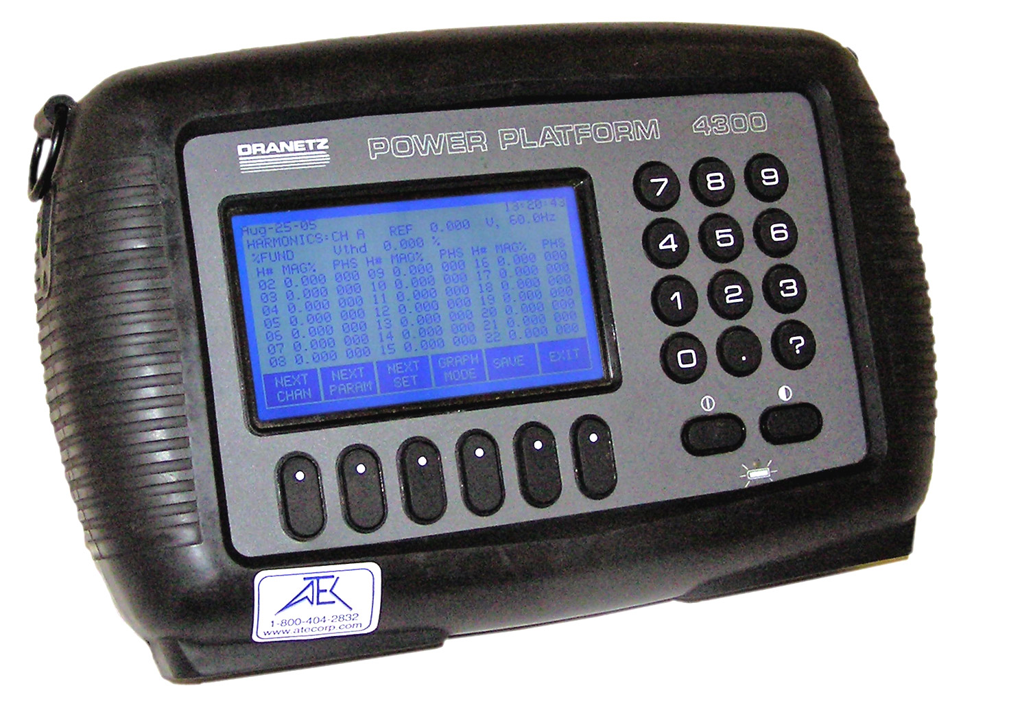 Dranetz PP4300 Power Quality, Energy & Harmonics Analyzer