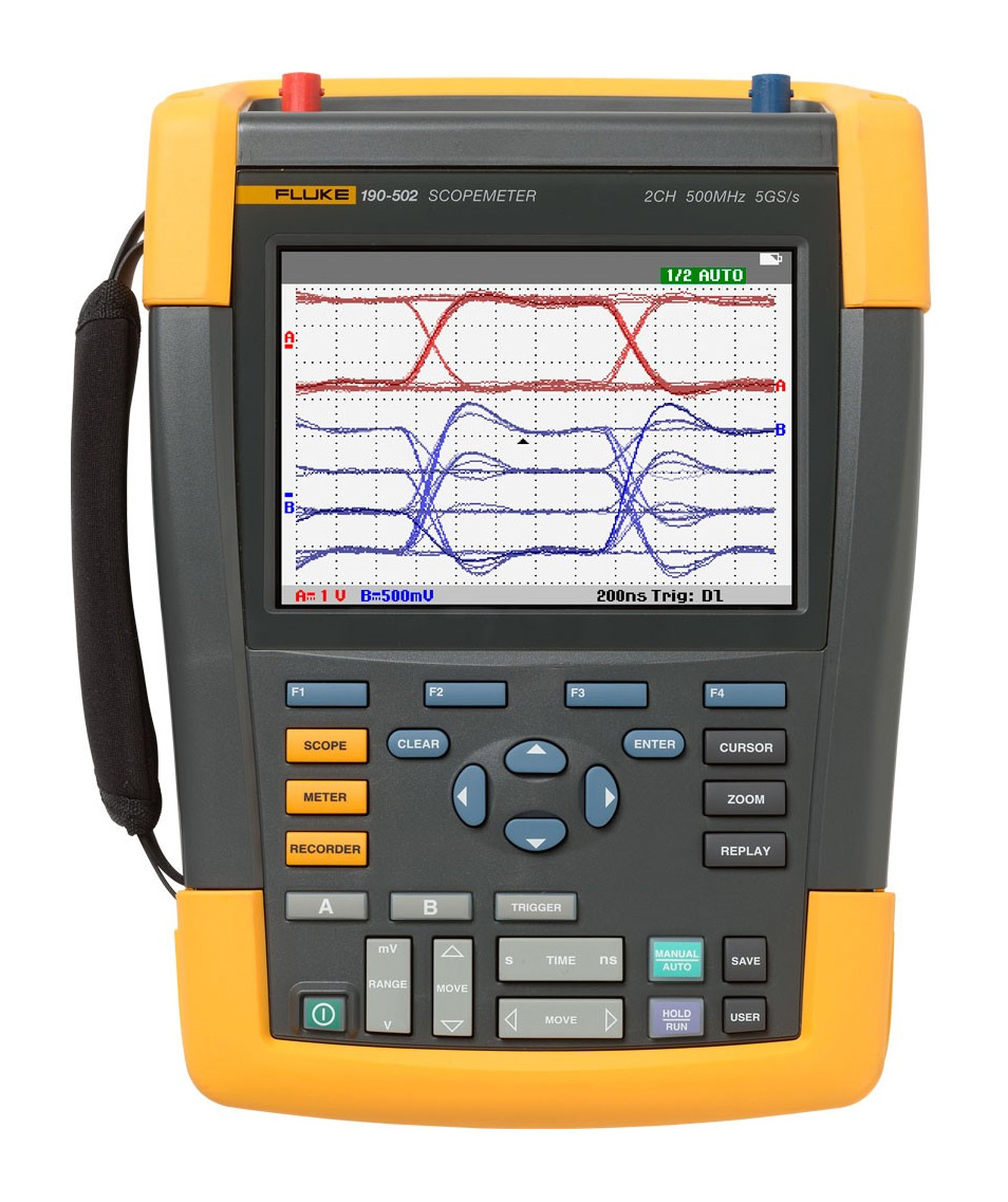 Fluke 190-502 Color ScopeMeter 500 MHz 5 GS/s 2 channel