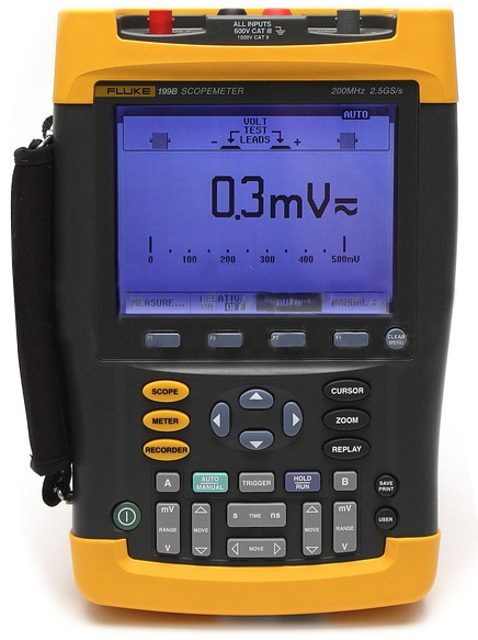 Fluke 199B Two Channel Scope Meter 2 Ch, 200 MHz