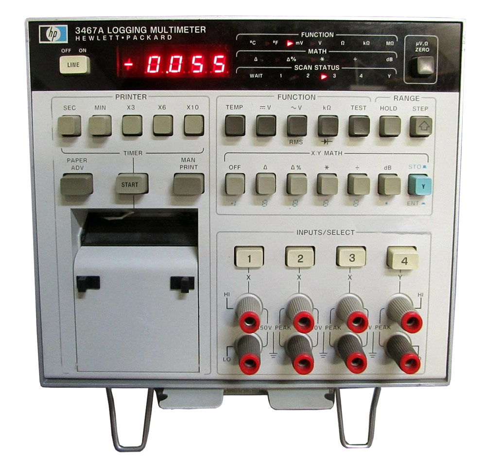 HP/Agilent 3467A 4 Channel 4½ Digit Logging Multimeter