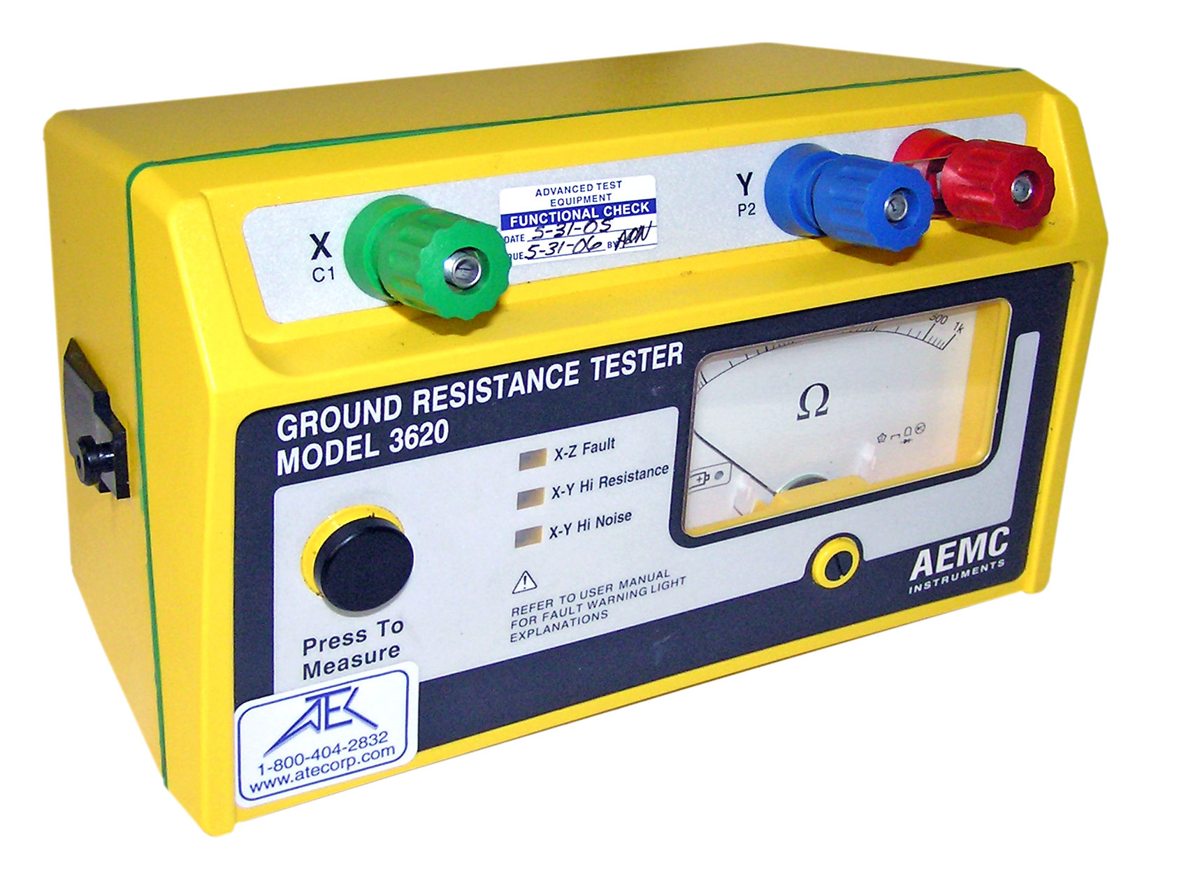 Ground Resistance Earth Testers Atec Rentals Electrical Tools Meters Scanners Circuit Continuity Aemc 3620 Tester