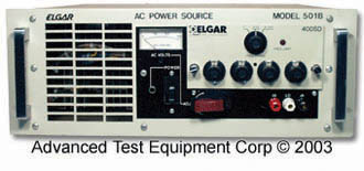 Elgar 501B 0-65/130/260V 500VA, AC Power Supply