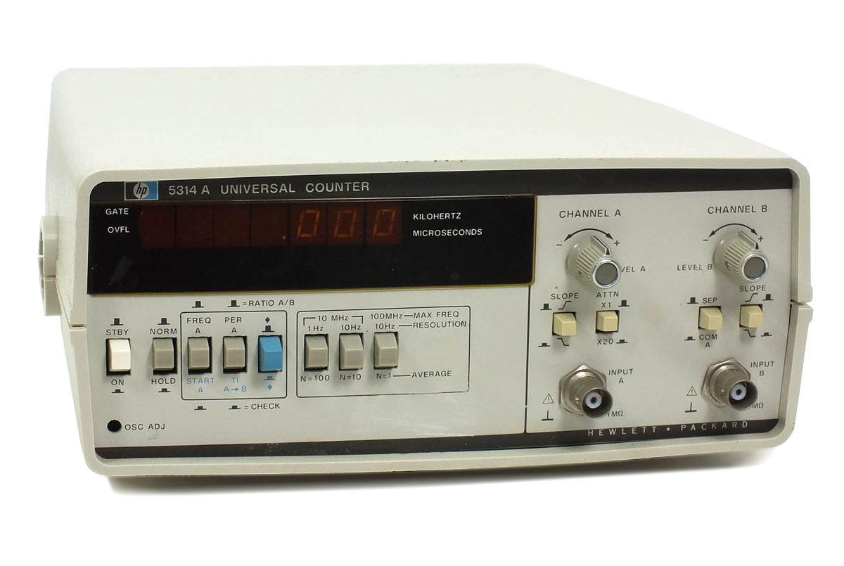 HP Agilent 5314A Universal Frequency Counter, 100 MHz