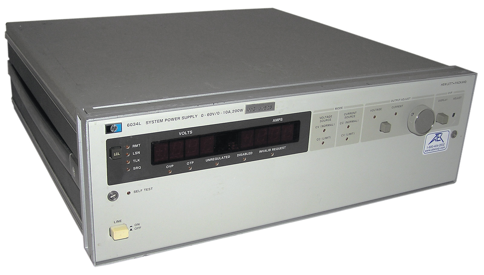 HP/Agilent 6034L 60V, 10A DC Power Supply