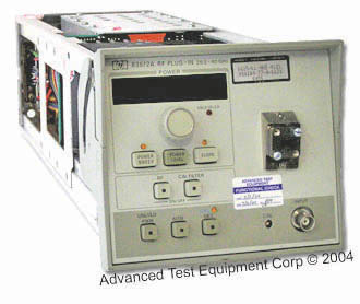 Agilent 83572A RF Plug-In, 26.5-40.0 GHz