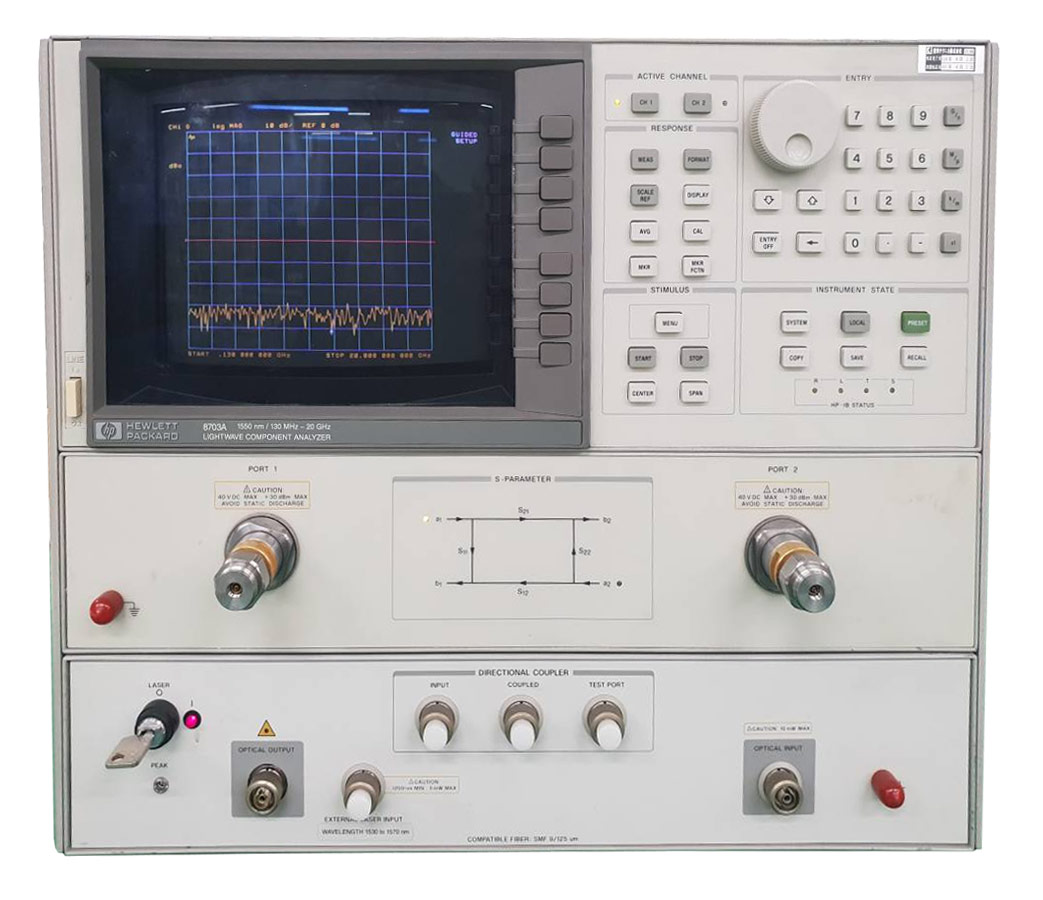Rent HP/Agilent 8703A Lightwave Component Analyzer