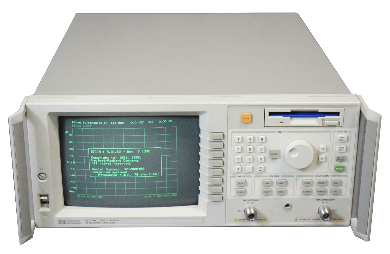 Rent, Buy, or Lease the Agilent 8711A Network Analyzer | 300 kHz - 1.3 GHz - Advanced Test Equipment Rentals | Call 1-800-404-ATEC(2832) for pricing…