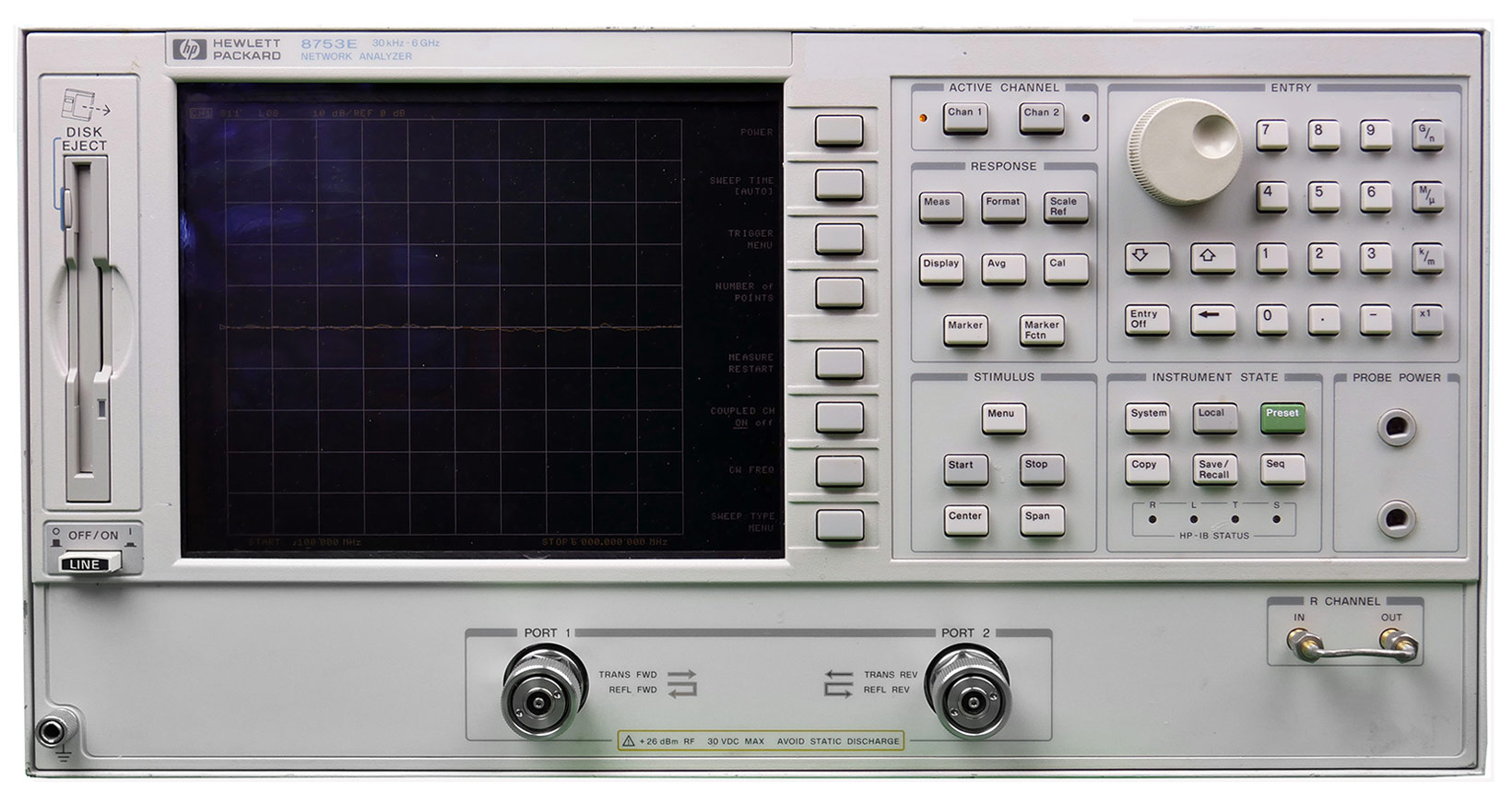Rent, lease, or rent to own 8753ES S-Parameter Network Analyzer 30 kHz - 3 GHz / 6 GHz