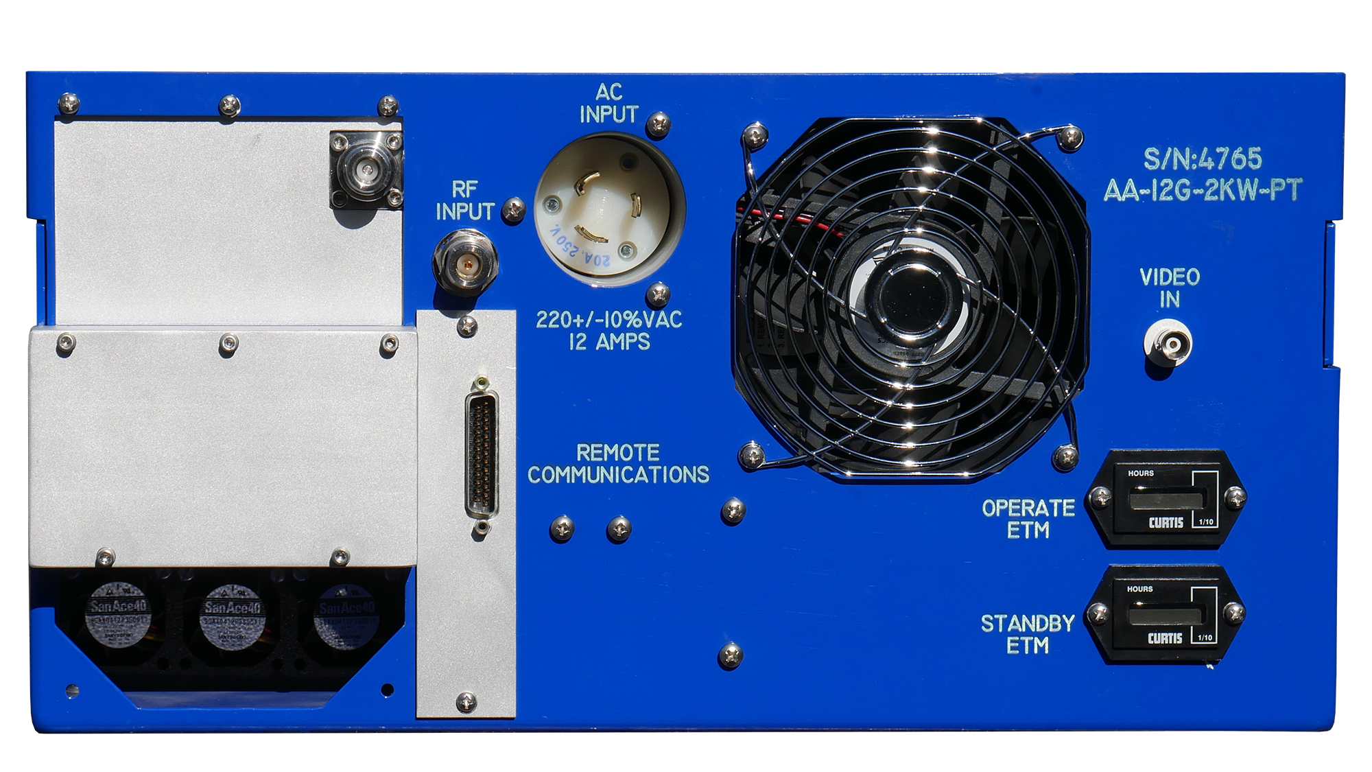 Advanced Amplifiers AA-12G-2KW-PT TWT High Power Pulse Amplifier