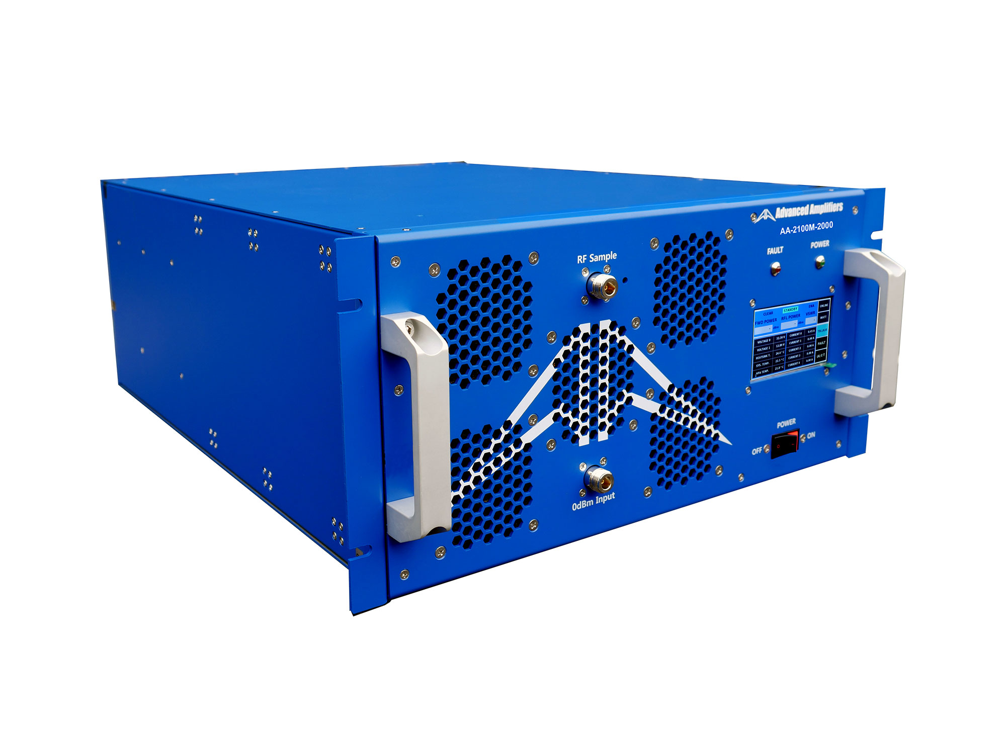 Advanced Amplifiers AA-2100M-2000 Solid State Amplifier | 2 - 100MHz, 2000W