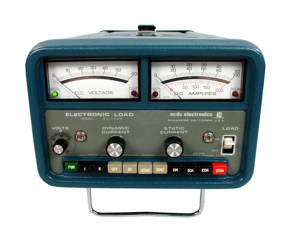 Dc Loads Atec Rentals Vector 9000 Wiring Diagram Ac El750 Dynamic Load