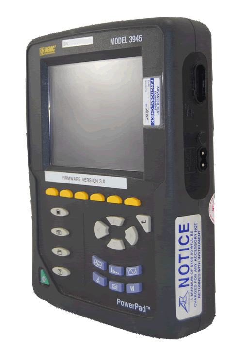 AEMC 3945 Three-Phase Power Quality Analyzer PowerPad