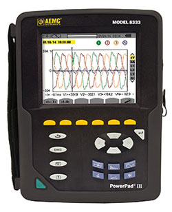 AEMC 8333 PowerPad III Power Quality Analyzer 3 Phase