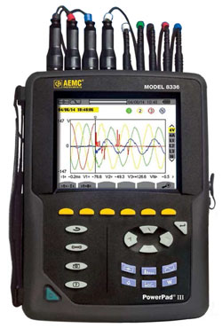 AEMC 8336 PowerPad III Three-Phase Power Quality Analyzer