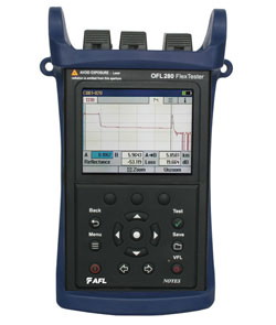AFL OFL280 FlexTester Handheld OTDR with LinkMap