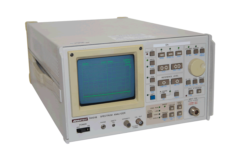 Advantest R4131B RF/Microwave Spectrum Analyzer, 10 kHz - 3.5 GHz