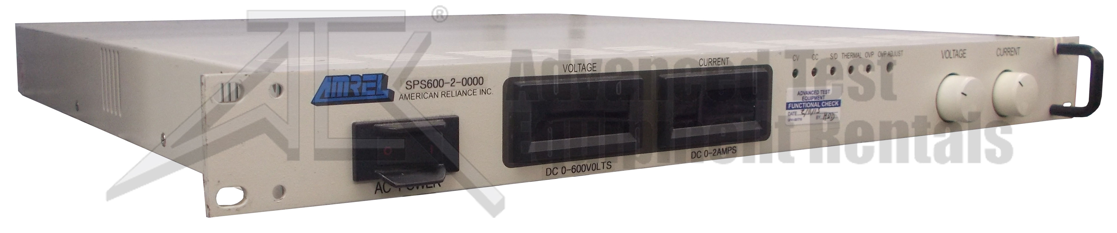 Amrel SPS600 DC Switching Power Supply 600V, 2A
