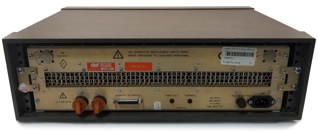 Amplifier Research 30W1000M7 Broadband Amplifier, 25 MHz - 1000 MHz, 30 Watts