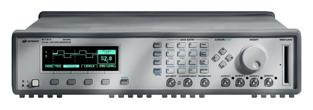 Keysight 81130A Pulse Data Generator 400/600 MHz, 1.32 Gb/s