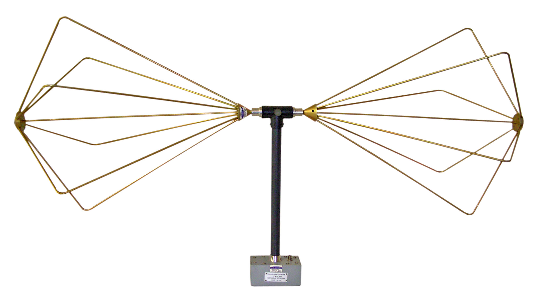 Com-Power AB-100 Wide Band Biconical Antenna, 30 MHz to 300 MHz