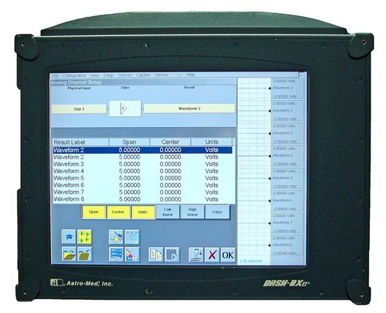 Astro-Med Dash 8XE Data Acquisition Chart Recorder, 8 Channels