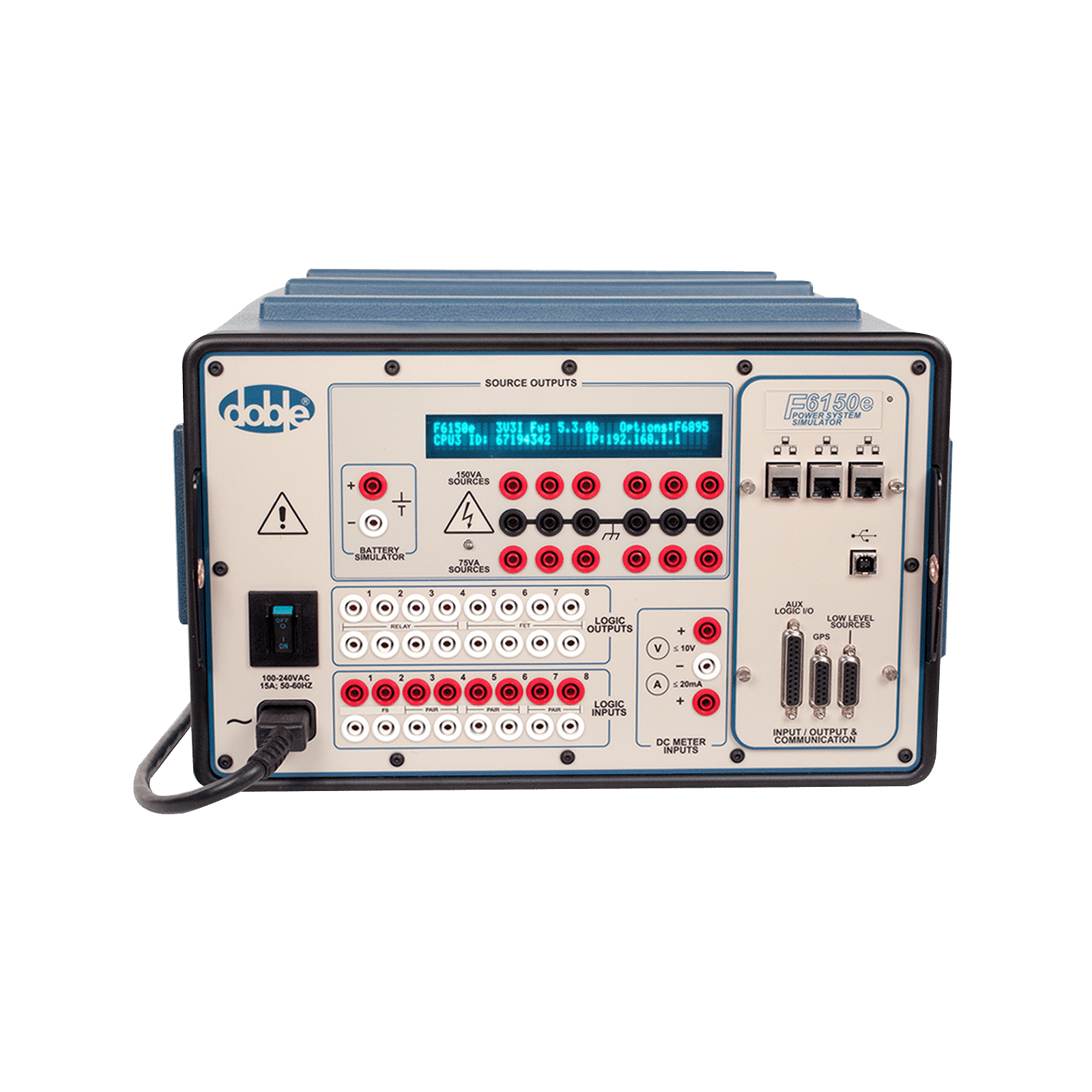 Protective Relay Test Set Atec Rentals Solid State Finder Doble F6150e Power System Simulator