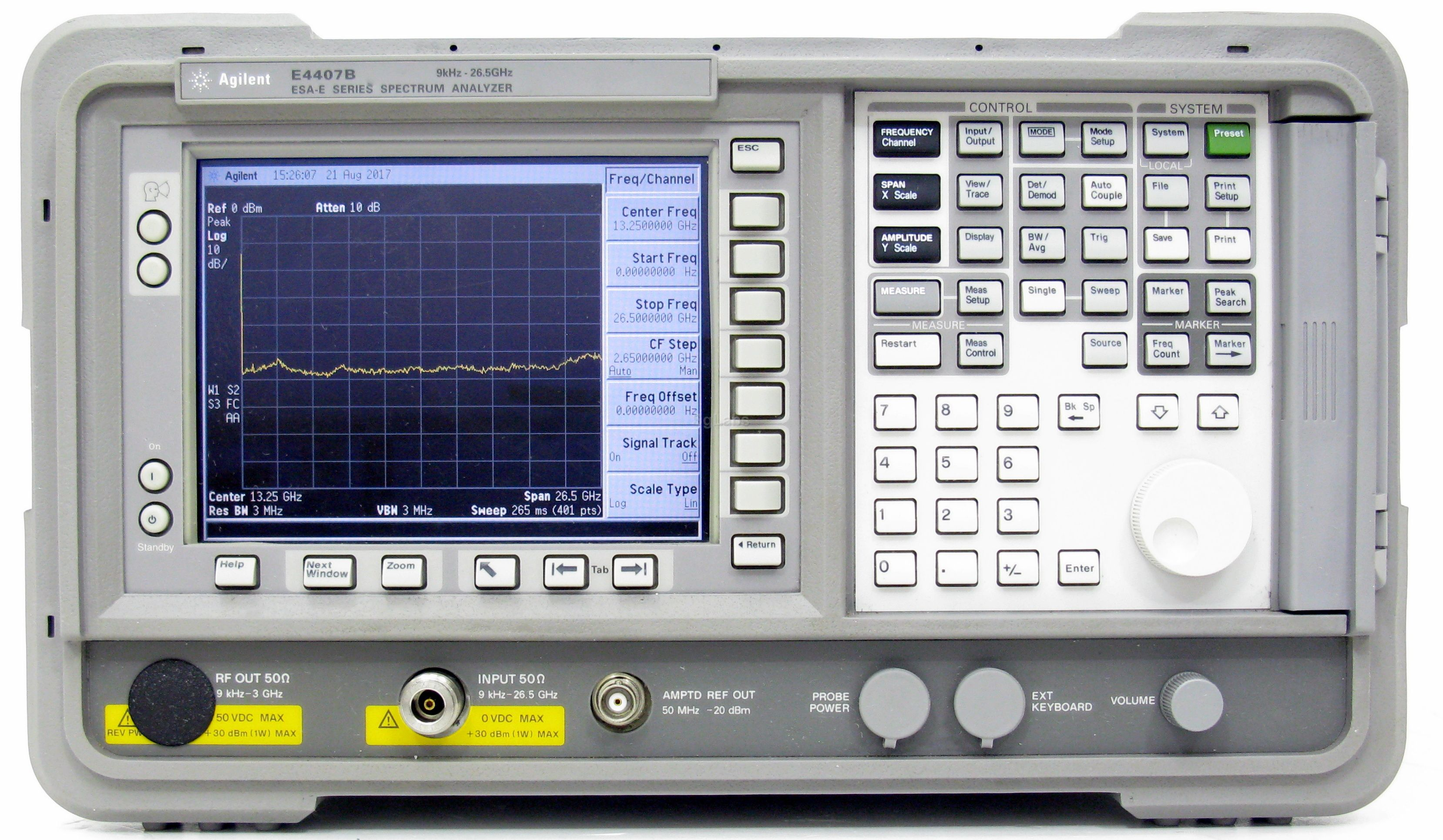 Keysight E4407B 9k-26.5GHz Spectrum Analyzer