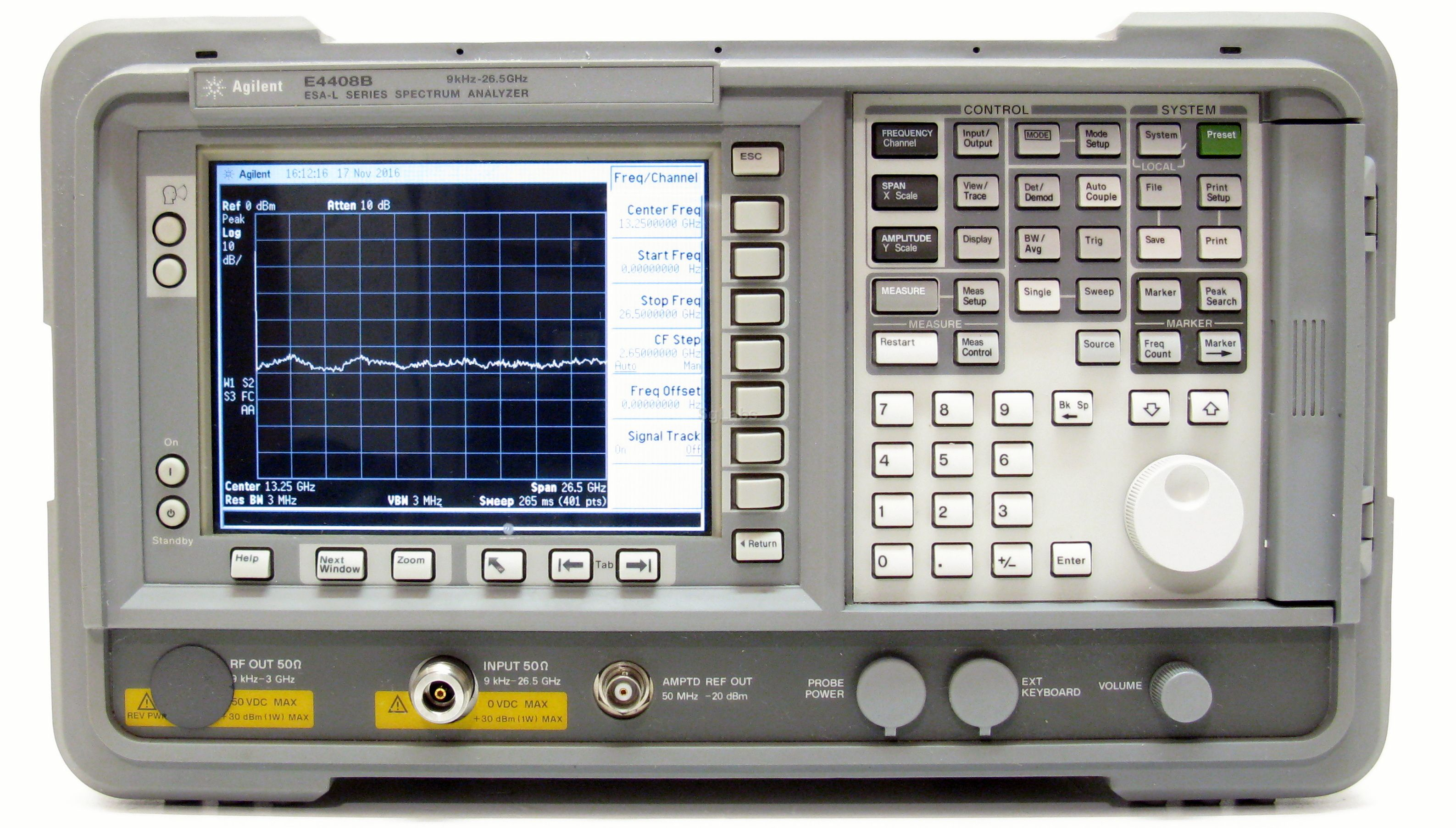 Keysight E4408B 9 kHz - 26.5 GHz, ESA-L Standard Spectrum Analyzer