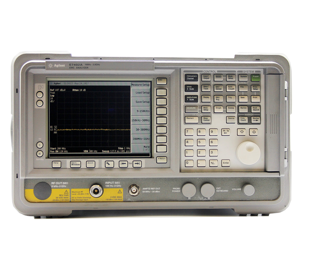 E7402A 30 Hz - 3.0 GHz EMC Spectrum Analyzer