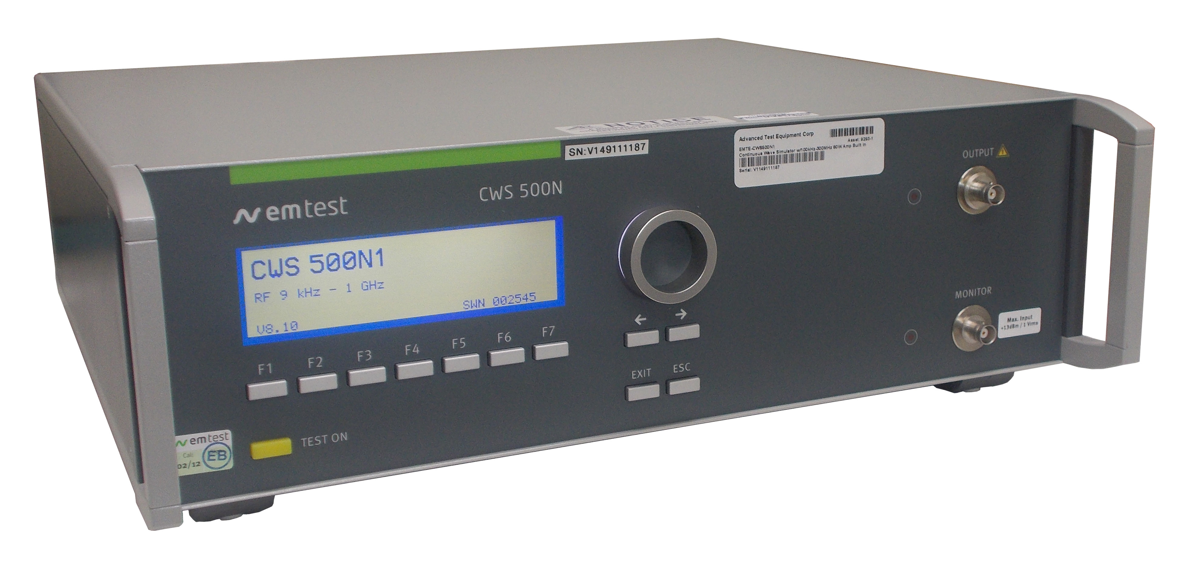 Rent EM Test CWS 500N1 Continuous Wave Simulator for IEC 61000-4-6