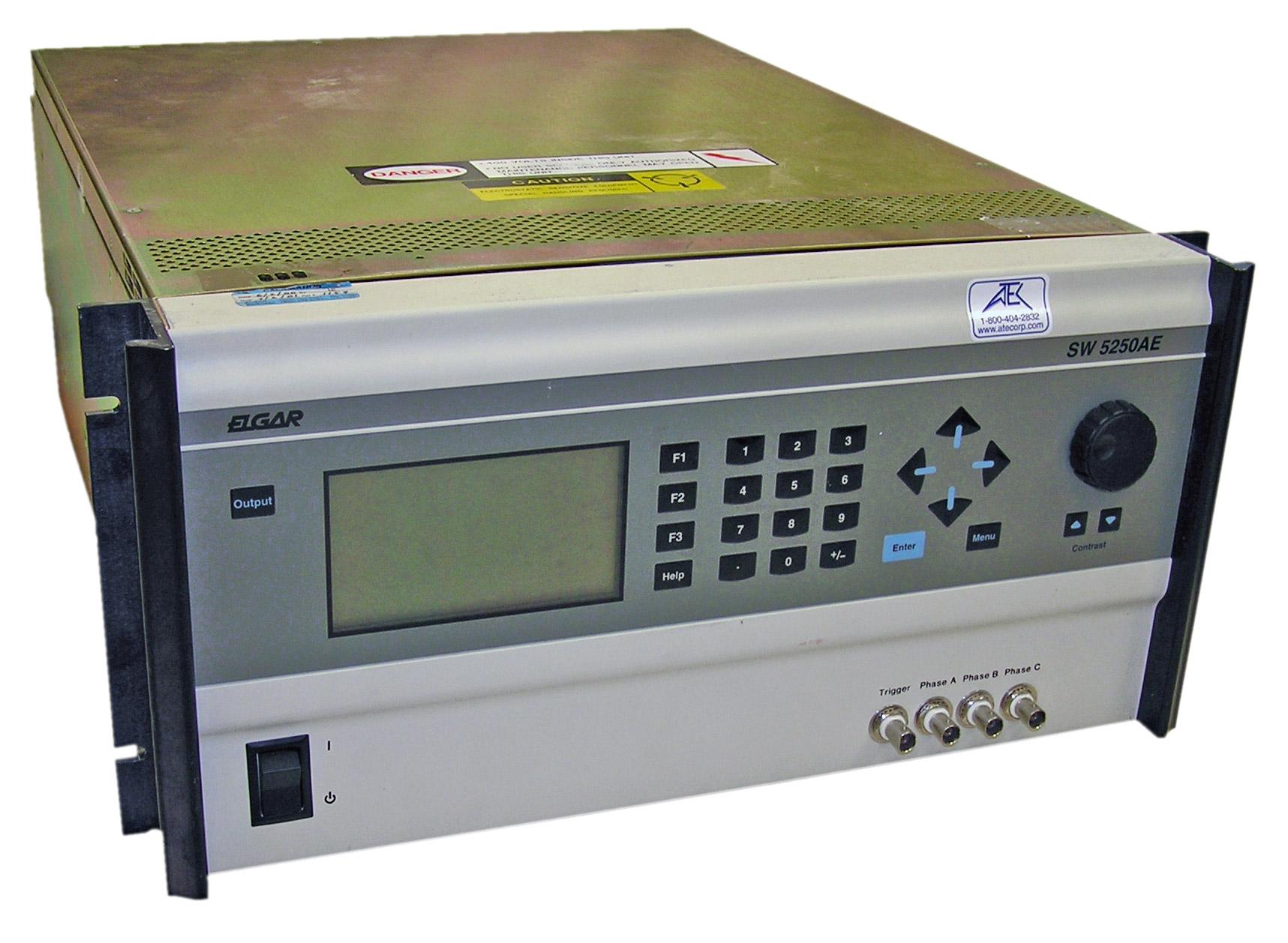 Ac Power Supply Atec Rentals We Can Configure Them As A Lowvoltage Bipolar Elgar Sw5250ae 4