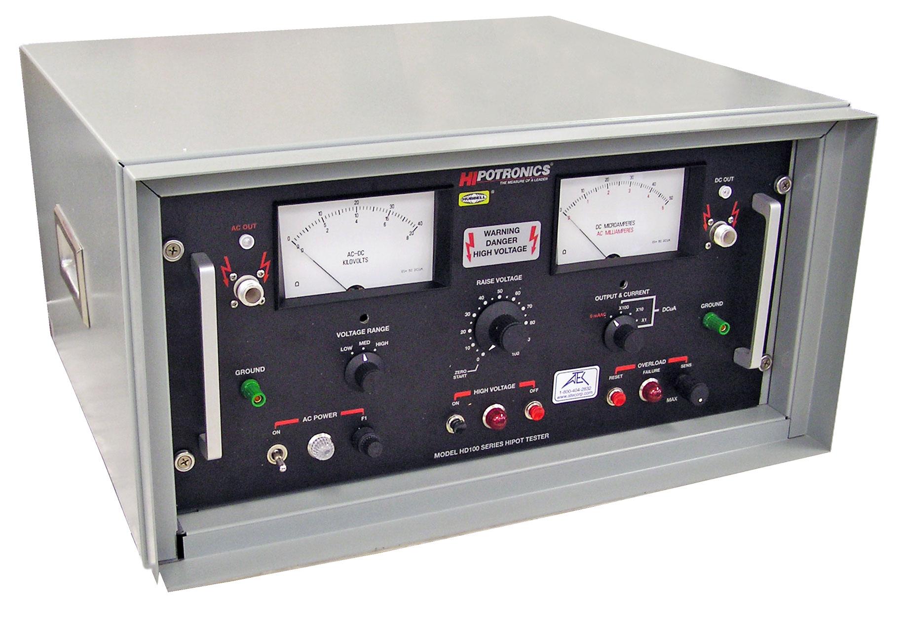 Ac Hipots Atec Rentals Insulation Tester Constant 5kv Hipotronics Hd103 Hipot