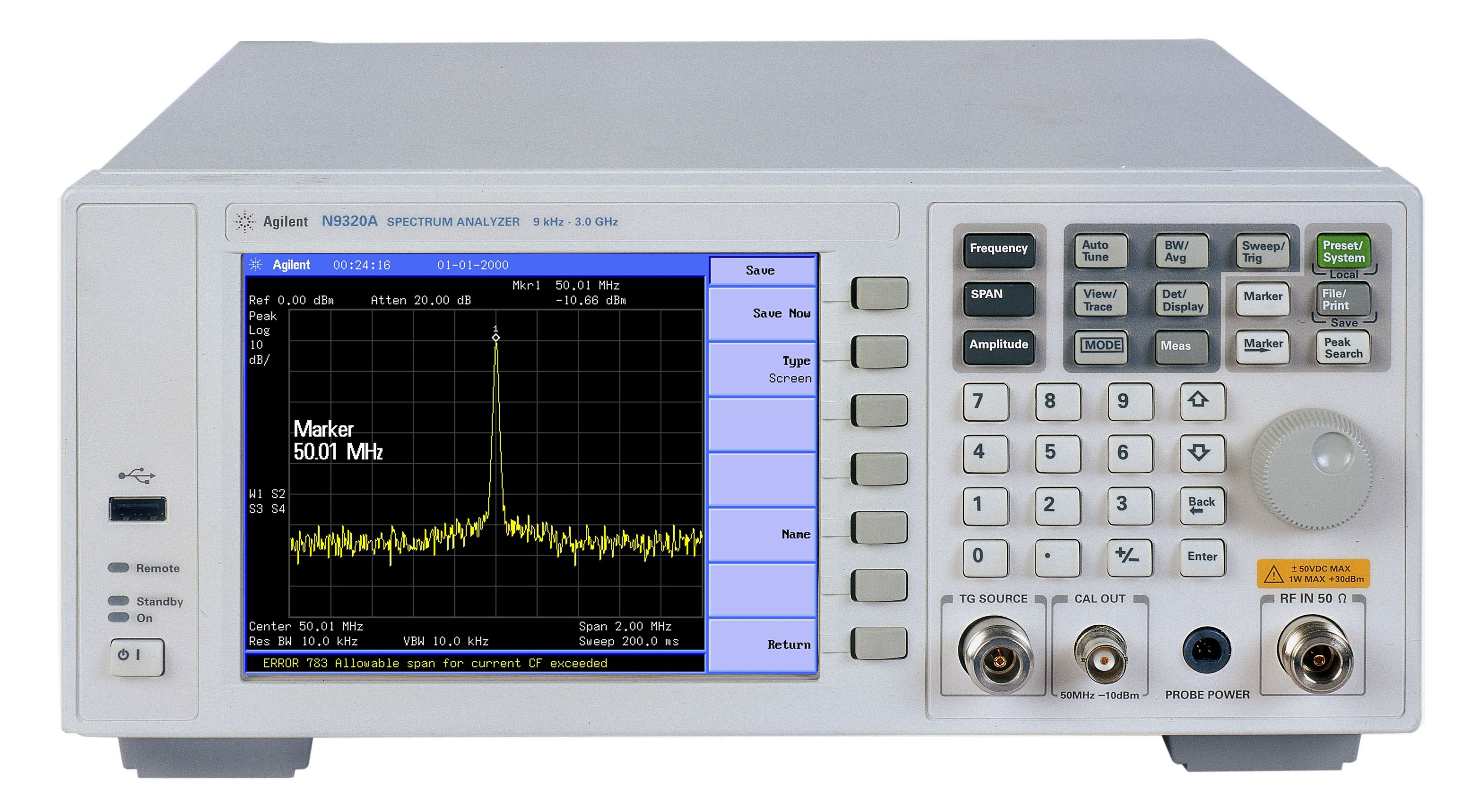 Rent N9320A RF Spectrum Analyzer, 9 kHz - 3 GHz