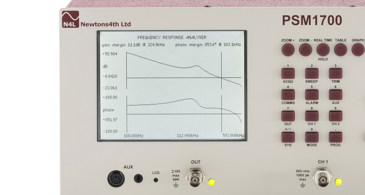 Newtons4th PSM1700 PsimetriQ Frequency Response Analyzer