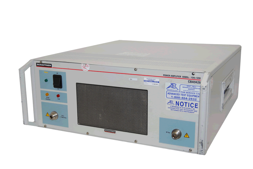 Rent Teseq CBA400M-110 10kHz-400MHz, 100 Watt RF Amplifier