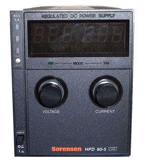 Sorensen HPD60-5 DC Power Supply 300 W, 0-60 V, 0-5 A