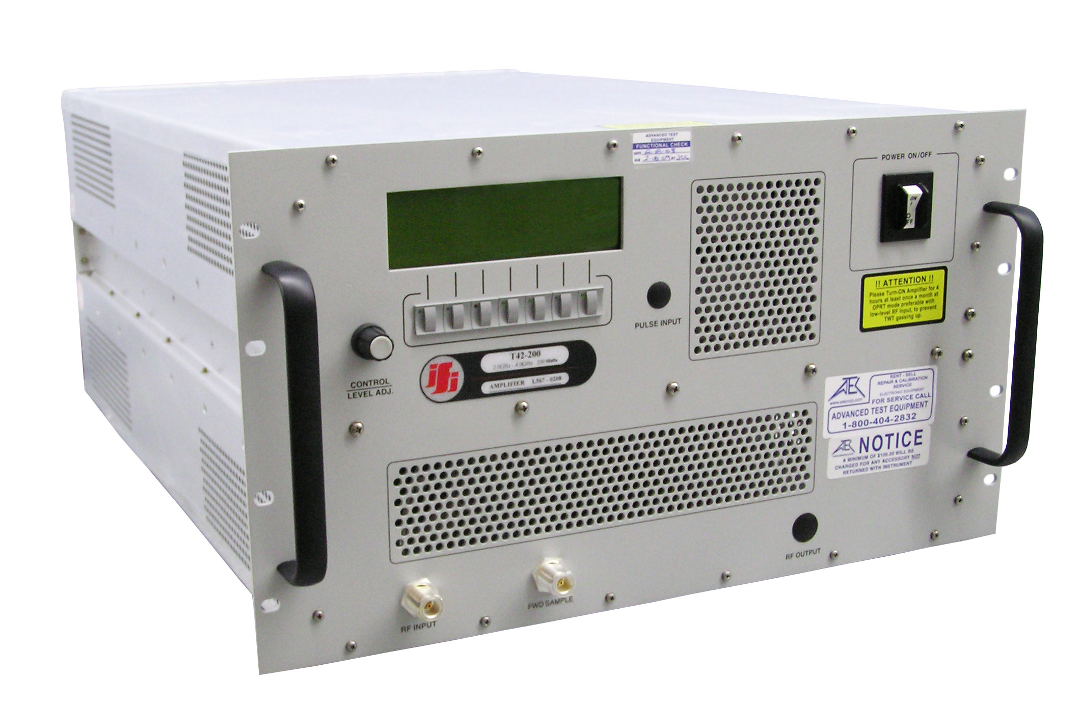 Rent IFI T42-500 High Power TWT Amplifier 2 GHz - 4 GHz, 500 Watt