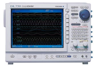 Yokogawa DL750 ScopeCorder 10 MS/s, 16 Channel, 8 Slots