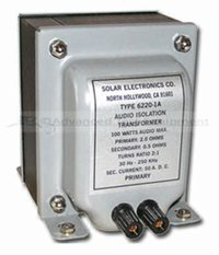 Solar 6220-4 Audio Isolation Transformer for DO-160E, Section 18 & 22