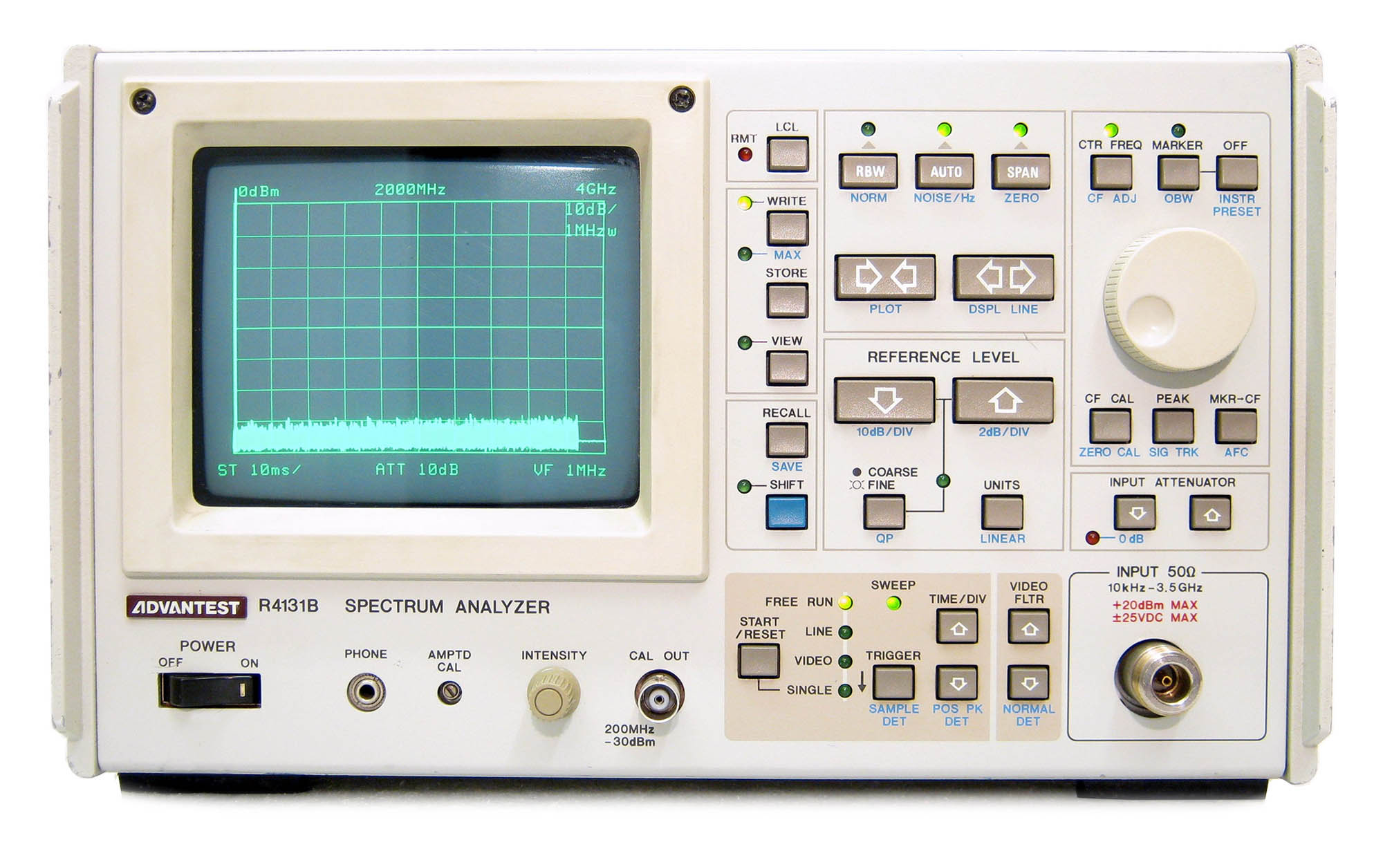 Advantest R4131D Spectrum Analyzer 10 kHz to 3.5 GHz